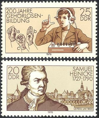 Germany 1978 Deaf/Medical/Health/Sign Language/People/Buildings 2v set (n43559)