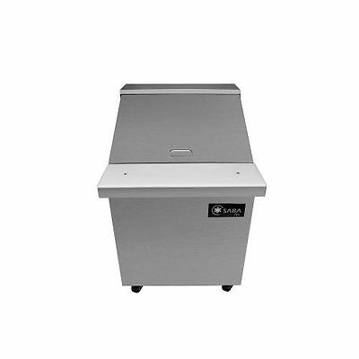 Saba Air SPS-27-12M Mega Top Sandwich Salad Prep Table Megatop with pans