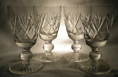 Stuart  Crystal Ivanhoe Sherry / Port  Wine Glass  X 4