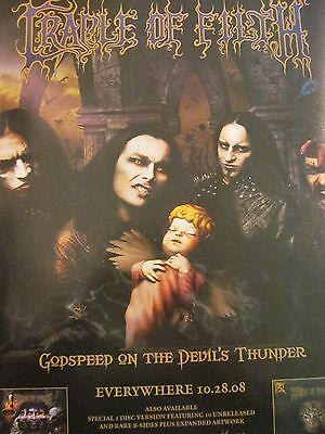 Cradle of Filth, Godspeed on the Devil's Thunder, Full Page Promotional Ad