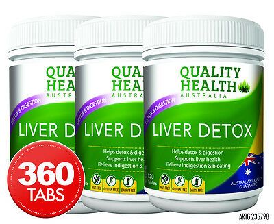 3 x Quality Health Liver Detox 120 Tablets