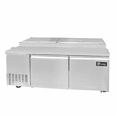 Saba Air SPP-70-9 Commercial Refrigerated Pizza Prep Table with pans Stainless