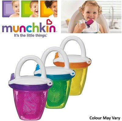 Munchkin Safe Easy Deluxe Baby Fresh Food Travel Feeder With Cap BPA Free +6m