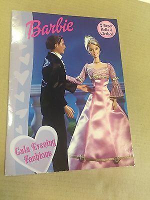 """Barbie And Ken """"Gala Evening Fashions"""" Paper Dolls, Golden Books 2003"""
