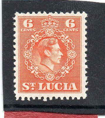St.LUCIA GV1 1949-50 new currency 6c  sg 151 NHM