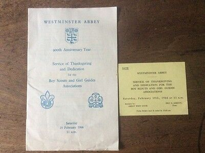 Boy Scout And Girl Guide 900th Anniversary Service 1966 Westminster Abbey