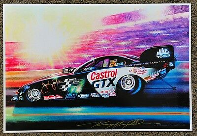 New Kenny Youngblood Signed In The Spotlight Funny Car Drag Racing Print