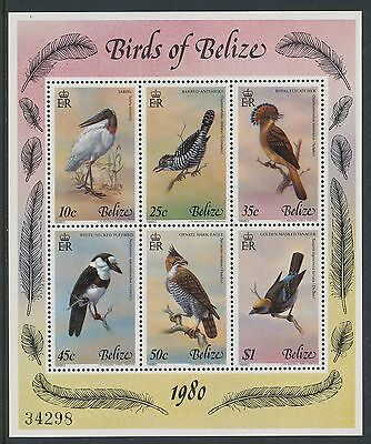 Belize 1980 Birds (4th series) Sheetlet of 6