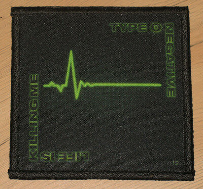 """TYPE O NEGATIVE """"LIFE IS KILLING ME"""" silk screen PATCH"""