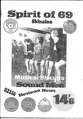 Spirit of 69 Issue 1 Skinhead Zine, Ska Reggae, sound systems