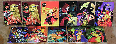 Jim Steranko-Legends Gold Foil Chase Cards-10 Card Set + One Signed Card-Shadow