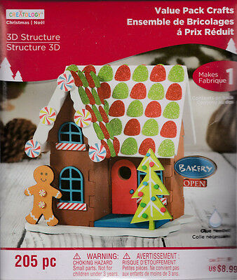NEW CREATOLOGY  Holiday Craft Kit 3D Structure Foam Gingerbread Bakery Ages 6+