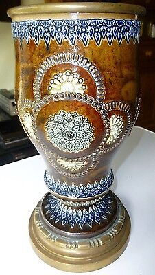 Doulton Lambeth large Lamp Base 34.5 cm very good condition
