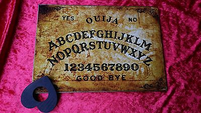 Large Ouija Board Old London Thames & Planchette spirit ghost hunt weeja A3