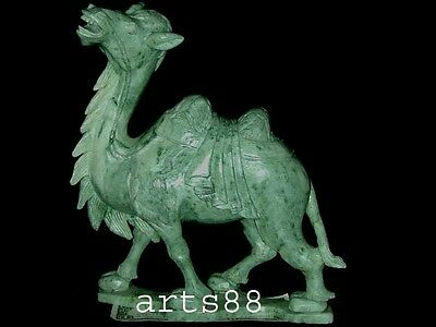 Chinese Green JADE Two Humps CAMEL RARE # 1