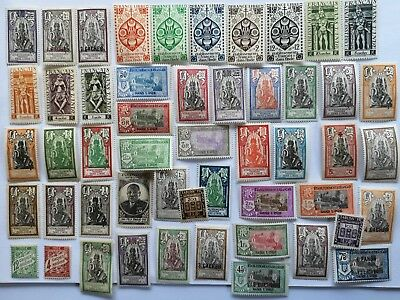 50 Different French India Stamp Collection