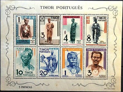 TIMOR 1948 Block 1 Bewohner People Trachten Costumes Kleidung Clothes MNH