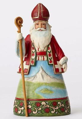 Jim Shore A Smile For Samichlaus Swiss Santa Christmas Figurine 4053711 HWC New