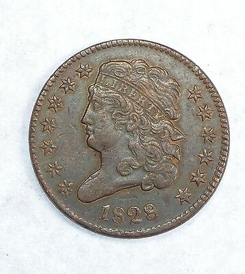 BARGAIN 1828 Classic Head Half Cent with 13 Stars EXTRA FINE 1/2c