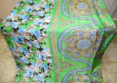 ART Silk Antique Vintage Sari Saree Fabric REUSE 3 YARDS Pu13 1358 #ABFEY