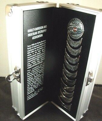 Harley Davidson 100th Anniversary MDA Complete Set of Pins Open Road Tour W/Case