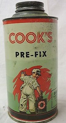 VINTAGE 1960s COOK'S PAINT GRAPHIC ADVERTISING ONE QUART Can KANSAS CITY USA