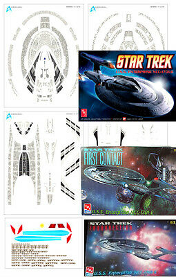Aztec Decals Star Trek Enterprise 1701 E 1/1400 scale Nemesis version