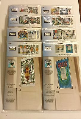Lot of 8 - Plaid Gallery Glass WINDOW PATTERNS new Sea Dream, Natures Calm NEW