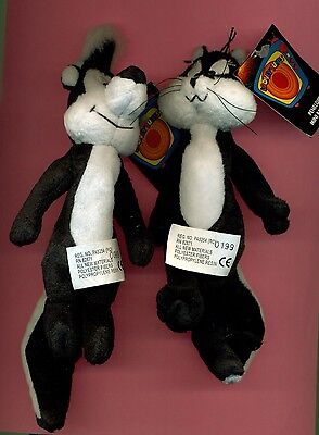 Pepe Le Pew Penelope mini bean bag set Warner Studio Stores new with tags rare
