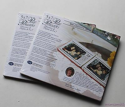 Lot of 2 Creative Memories 5x7 Page Protectors New Packages 10 Sheets Each #F10