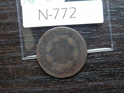 VINTAGE USA LARGE CENT 1819   Coronet Head        N772