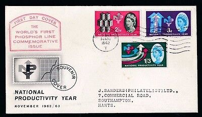 National Productivity Year - SOUTHAMPTON...1962 FDC First Day Cover...Fast Post