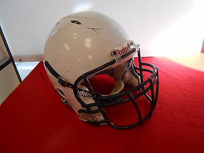 Riddell Revo Speed Football Helment White Black Facemask Adult Large W/ Strap !