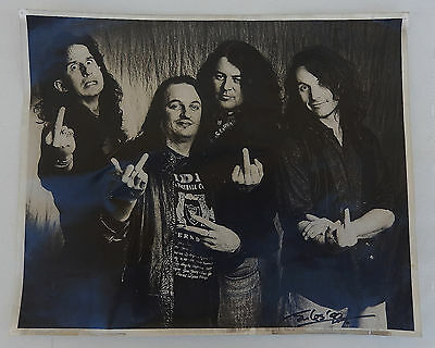 """1992  Y & T (Yesterday & Today) Band Members B/W Photo 15-5/8"""" X 12-3/4"""""""