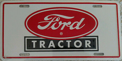 Ford Tractor Metal License Plate - NEW - NIP - Collectible - Licensed Product