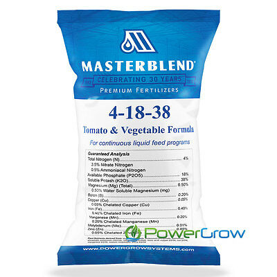 MASTERBLEND Official 4-18-38 Tomato & Vegetable Fertilizer BULK (5 Pounds)