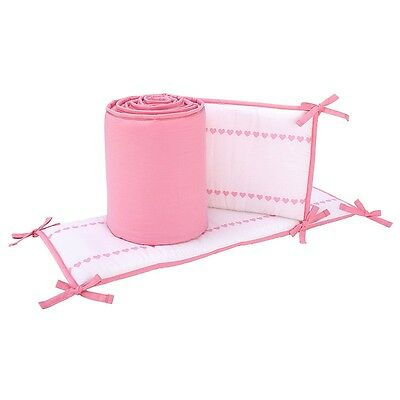 Sadie & Scout Little Meadow - Bumper with Pink Trim