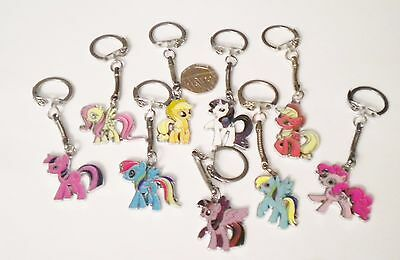 New Girl's Hasbro My Little Pony Enamel Pendant Charm Keyring/key Chain Gift