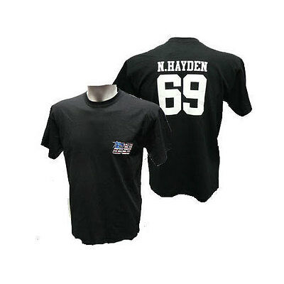 Nicky Hayden Signature Ducati Black Tee T Shirt Moto Gp 69 Sizes S & M Only