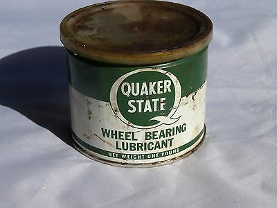 Vintage Quaker State Wheel Bearing Lubricant Grease Can Tin Partial