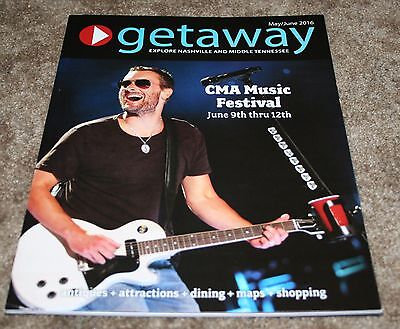 ERIC CHURCH Covers Getaway Nashville Magazine Photo ~ May/June 2016 CMA Music