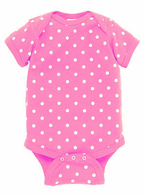 8 New 1 Piece Creepers Girls Collection Newborn Baby Girl Blanks Polka Dots +