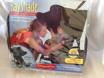 RAYSHADE UV Protective Baby Stroller Sun Shade UPF 50+ Adjustable Cover, NEW