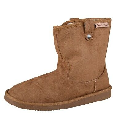 Uncle Sam Womens Winter Boots in Brown with Nietenschlaufen
