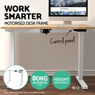 Artiss Height Adjustable Standing Desk Frame Motorised Electric Table Office WH