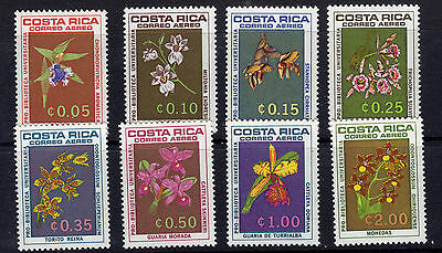 1962 Costa Rica Flower Air Mail Set Of 8 Mint Never Hinged