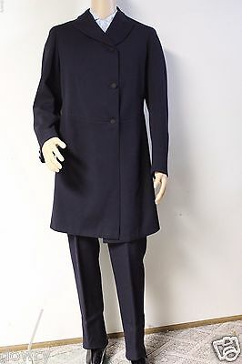 ANTIQUE VICTORIAN M.BORN &CO WOOL FROCK TAIL COAT & TROUSERS SAC SUIT 1880s M-L