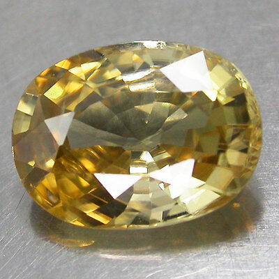 4.42Cts. Huge Size! Shimmering 100%Natural Nice Color Yellow Zircon Ov Cambodia