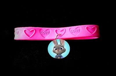 Zootopia - 8 Rubber Charm Bracelet -Party Favor Toys Birthday bracelets