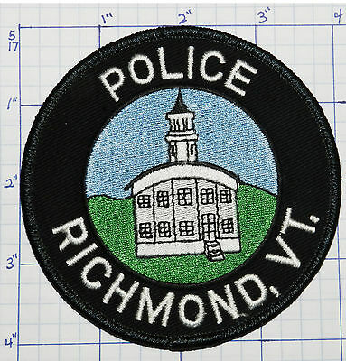 Vermont, Richmond Police Dept Round Patch